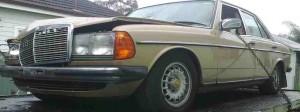 Mercedes Scrap Car