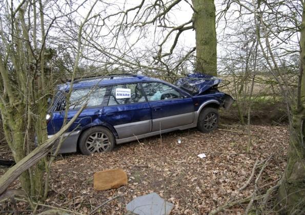 Destroyed car Diss
